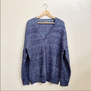 Club room blue knit button down cardigan